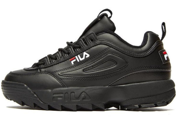Fila Disruptor 2 All Black кожаные
