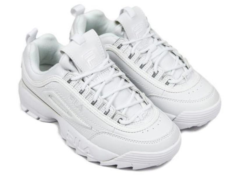 Fila Disruptor 2 All White кожаные