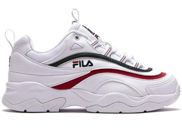 Fila Ray белые кожаные