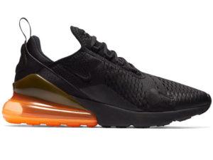 Nike Air Max 270 черные с оранжевым