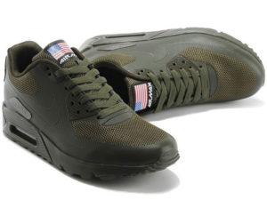 Nike Air Max 90 Hyperfuse темно-зеленые