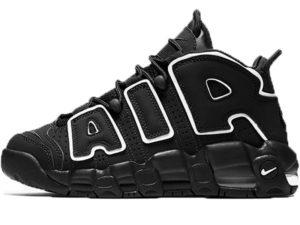 Nike Air More Uptempo черные с белым