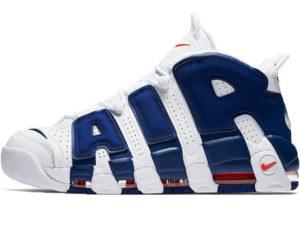Nike Air More Uptempo белые с синим