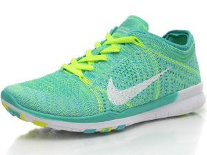 Nike Free Run Flyknit 5.0 зеленые