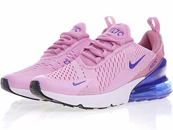 Nike Air Max 270 розовые с голубым