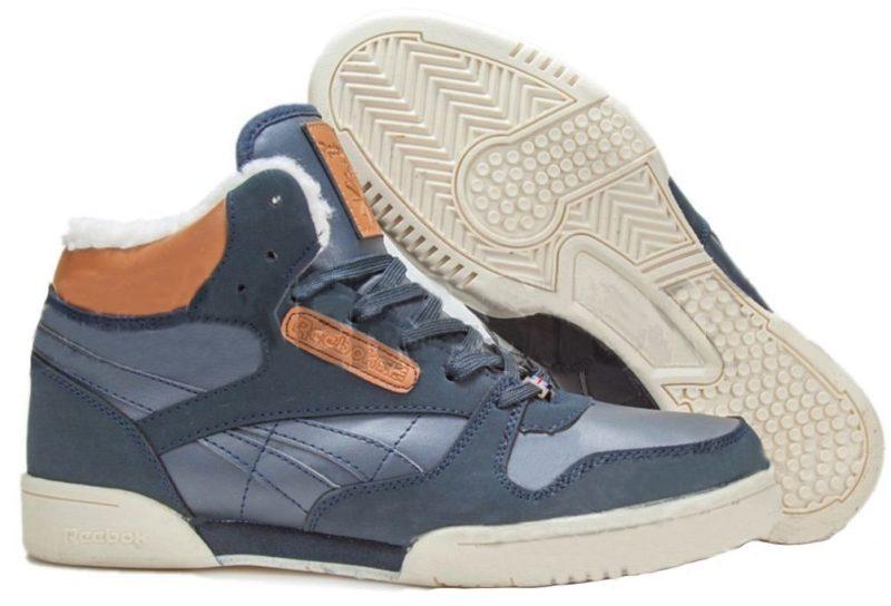 Reebok Classic Leather Mid Blue синие (40-45)