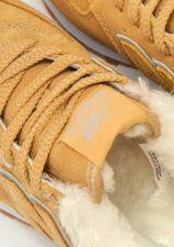 Зимние NEW BALANCE 574 с мехом замша желтые с серым (35-39)