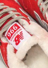 Зимние NEW BALANCE 574 с мехом замша красные с серым (35-39)