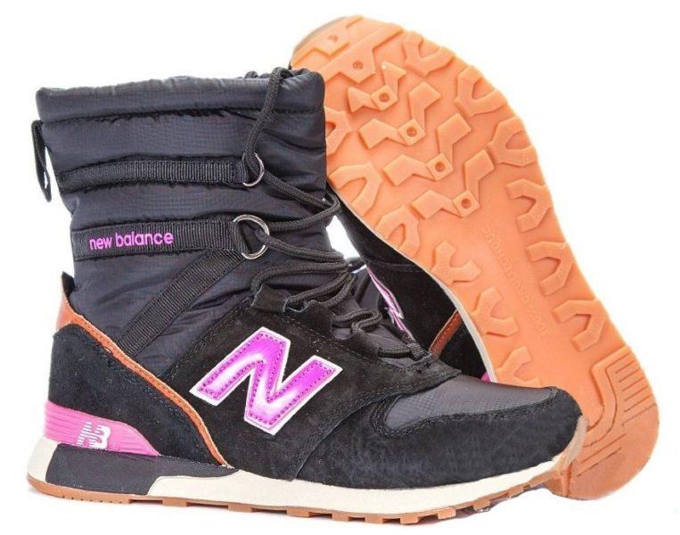 Сапоги New Balance Snow Boots черные с розовым 36-40