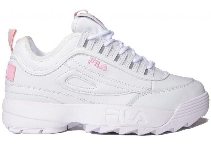 Зимние Fila Disruptor 2 с мехом белые с розовым (35-40)