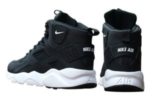 Зимние Nike Air Huarache Winter Black White черно-белые (35-40)