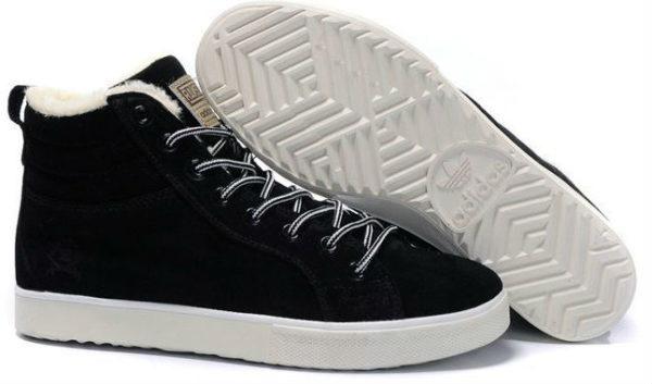 Кроссовки Adidas Ransom черные с мехом