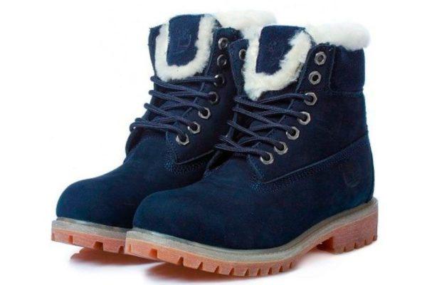 Синие ботинки Timberland