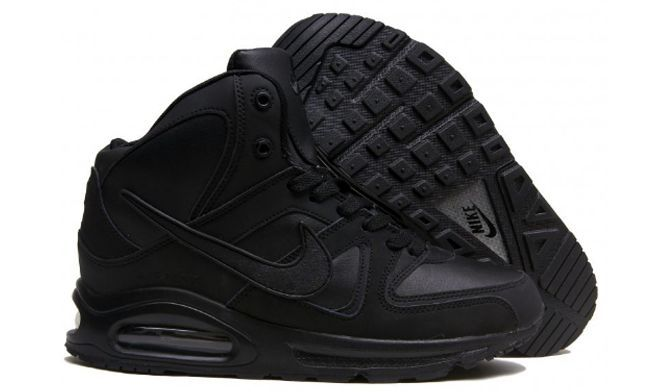 Зимние Nike Air Max Skyline High с мехом Black черные 40-44