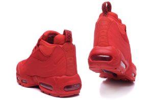 Зимние Nike Air Max 95 Sneakerboot красные (40-45)