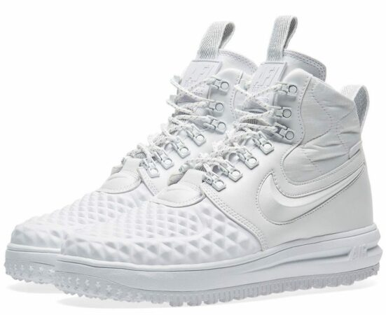 Зимние Nike Air Force 1 Lunar Duckboot White белые (41-45)