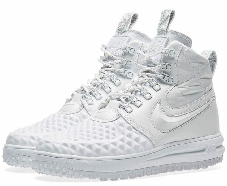 Зимние Nike Air Force 1 Lunar Duckboot White белые (41-45)