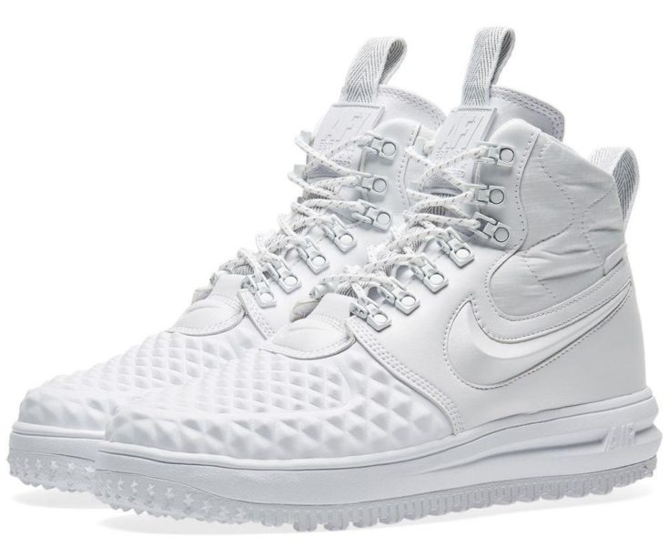 Зимние Nike Air Force 1 с МЕХОМ Lunar Duckboot White белые (35-45)