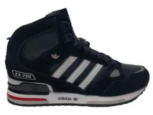 Adidas ZX 750 High черно-красные (40-45)