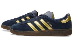Adidas Munchen синие с золотым (40-44)