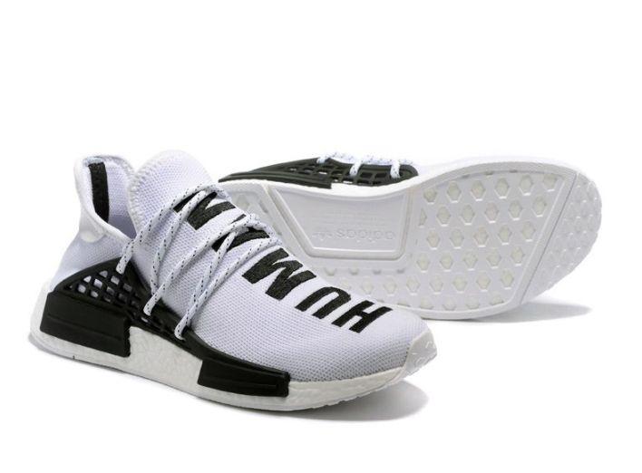 Кроссовки Adidas NMD Human Race белые с черным