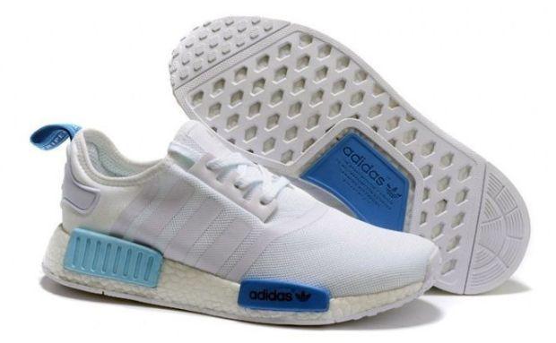 Adidas NMD белые с синим