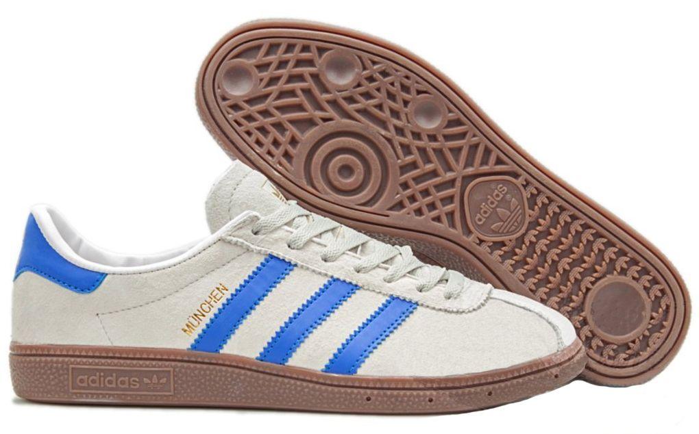 Adidas Munchen White Blue белые с синим (40 44)