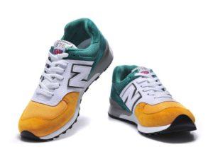 Кроссовки New Balance 576 зелено-бело-желтые (39-45)