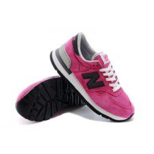 Кроссовки New Balance 990 женские pink розовые с черным (35-39)