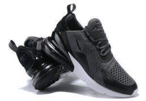 Nike Air Max 270 серые с черным (40-44)