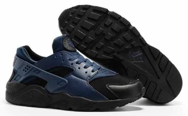 Nike Air Huarache черные с синим (41-44)