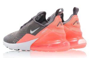 Nike Air Max 270 серые с розовым (35-39)