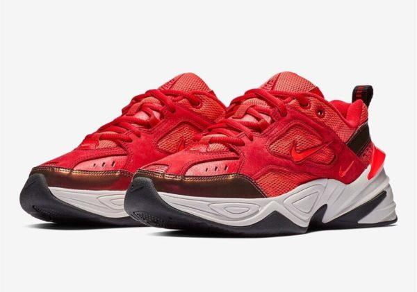 Кожаные женские красные кроссовки