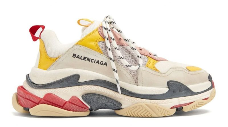 Balenciaga Triple S Cream/Yellow/Red женские (35-40)