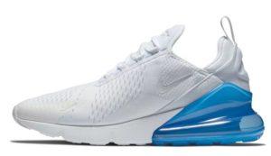 Nike Air Max 270 белые с голубым (35-39)