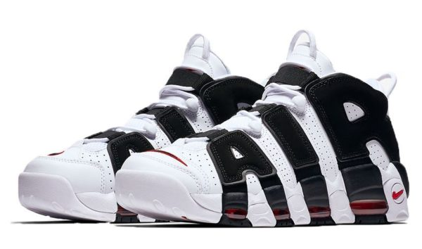 Nike Air More Uptempo белые с черным 35-45