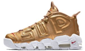 Nike Air More Uptempo Supreme x золотые 35-45