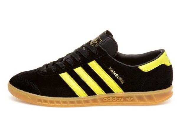 Adidas Hamburg черные с желтым (40-44)