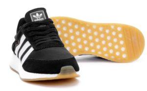 Кроссовки Adidas Iniki Runner черные с белым 40-44