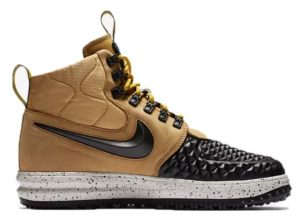 Nike Air Force 1 Lunar Duckboot черно-золотые (40-44)