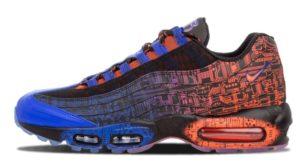 Nike Air Max 95 черные с синим (40-45)