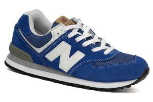 NEW BALANCE 574 замша синий с белым (35-39)