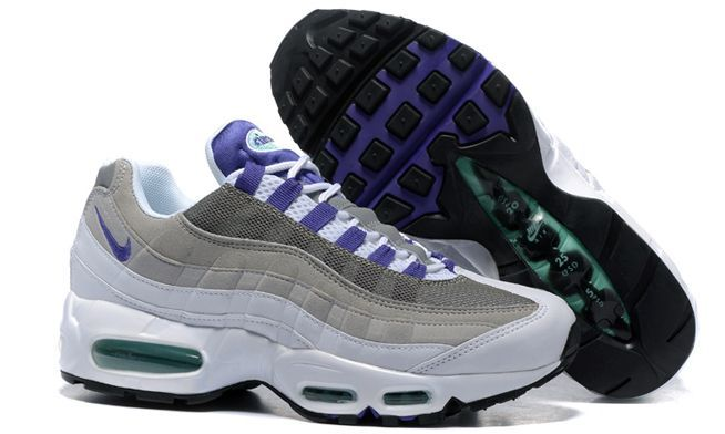 Nike Air Max 95 Серо-фиолетовые (36-45)
