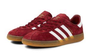 Adidas Munchen Burgundy-White бордовые (40-44)