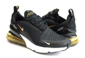 Nike Air Max 270 черные с золотым (35-44)