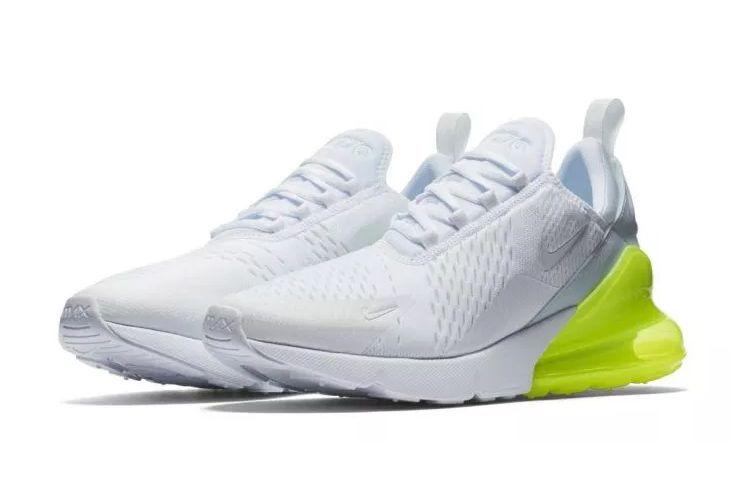 Nike Air Max 270 белые с зеленым (35-44)