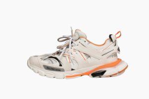 Кроссовки Balenciaga Track белые с оранжевым (35-44)