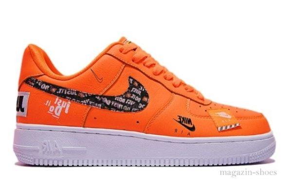 Кроссовки Nike Air Force х OFF White оранжевые (40-44)