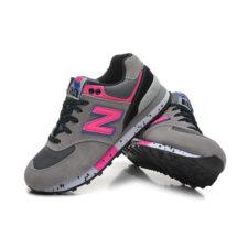 Кроссовки New Balance 574 серые с розовым (35-40)