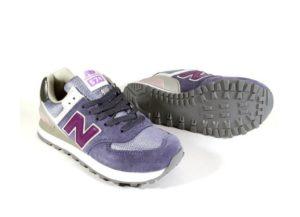 NEW BALANCE 574 замша фиолетовые (36-40)